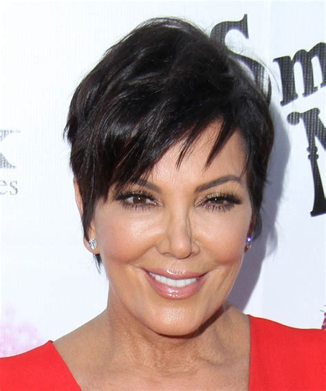kris jenner haircut kris jennder haircut front and back view short hairstyle