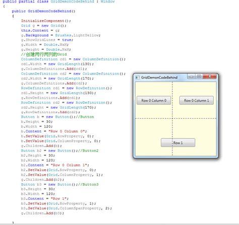 grid layout border wpf wpf 使用code创建canvas stackpanel dockpanel grid border