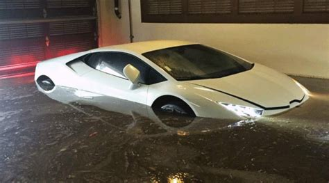 Lamborghini In Water 3 Day Lamborghini Huracan Destroyed By Floods In San