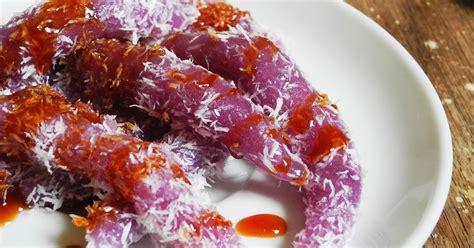 cara membuat warna ungu cara membuat cenil ubi ungu masakan simbok