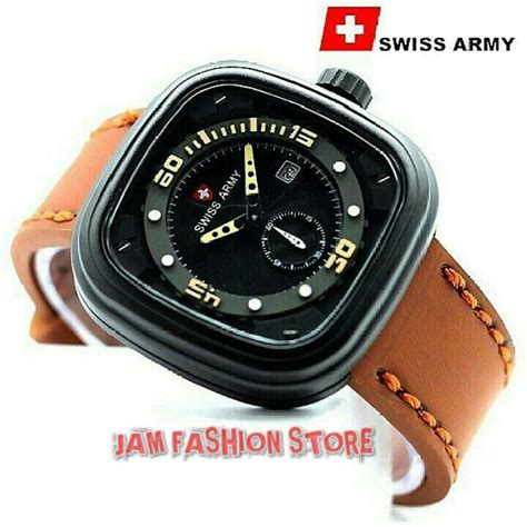 Jam Tangan Swiss Army Time Leather jam tangan seiko anti air jualan jam tangan wanita