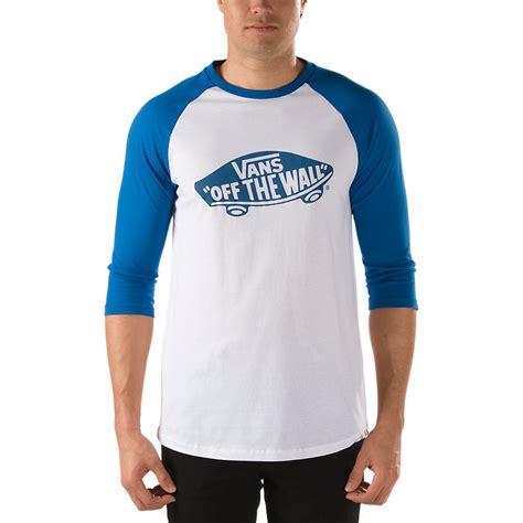 T Shirt Vans Of The Wall Blue vans otw raglan t shirt white blue