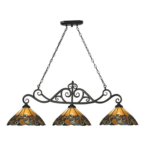 Tiffany Style Kitchen Lighting | shop westmore lighting doveridge 51 in w 3 light tiffany