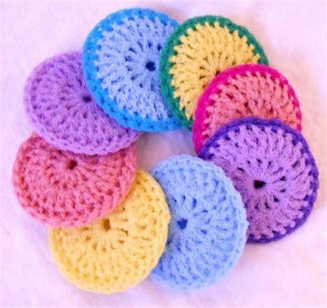 Kitchen Scrubbies by Crochet Dish Scrubbies Set Of 8 Pastel
