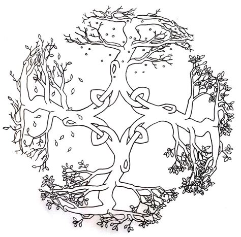 celtic tree of life coloring pages for adults coloring pages