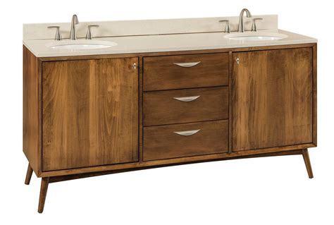 mid century modern bathroom vanity from dutchcrafters