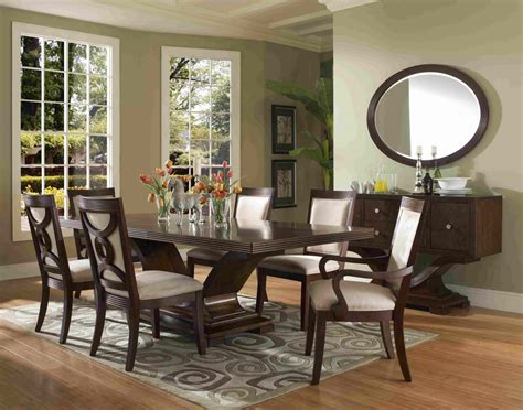 Modern Dinning Room Set Luxury Rectangle Glass Mirrored Dining Igf Usa Formal Dining Room Sets For 8 Homesfeed
