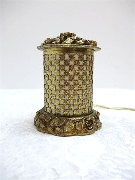 antique gold vanity light reserved for teresa vintage matson night light vanity