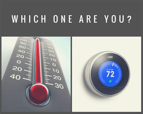 ilustrasi thermometer dan thermostat mempengaruhi