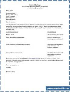 T Format Cover Letter Sle by Cover Letter Sles For Free