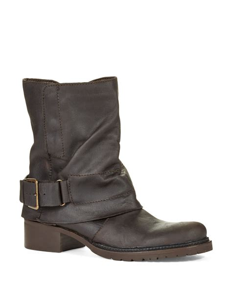 Ledger Three Brown Leather Bq2303 adam tucker ledger leather boots in brown lyst