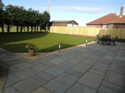 patio area rear garden large patio area aycliffe today