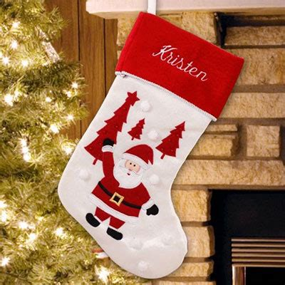 embroidered santa stocking christmas gifts