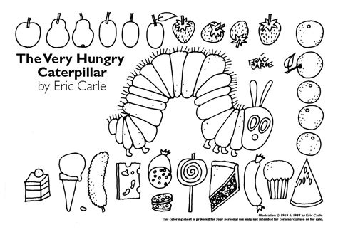 The Hungry Caterpillar Coloring Pages Printables hungry caterpillar coloring pages az coloring pages