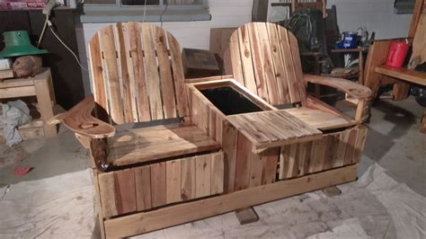 diy recliner chair party like pros 2 person pallet recliner has built in ice