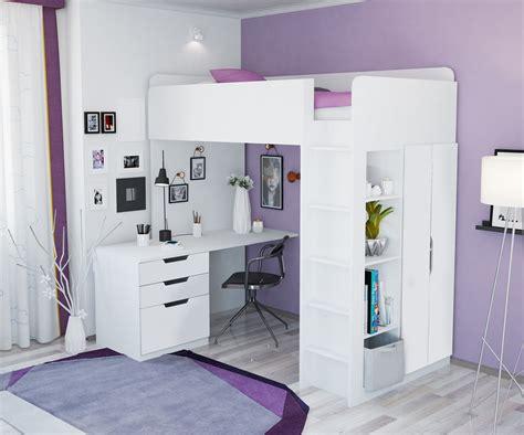 Hochbett Mit Schreibtisch Und Kleiderschrank 7 polini hochbett mit kleiderschrank und real