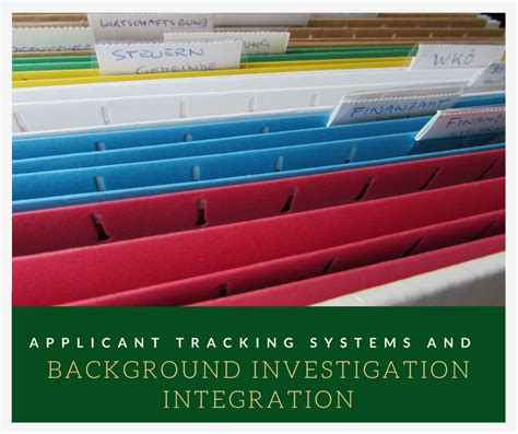 Background Investigation Applicant Tracking Systems And Background Investigation