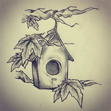 bird house tattoo sketch by ranz pinterest bird