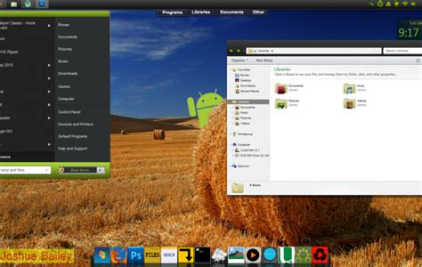 pc themes android android visual style v3 for windows 7 desktop themes