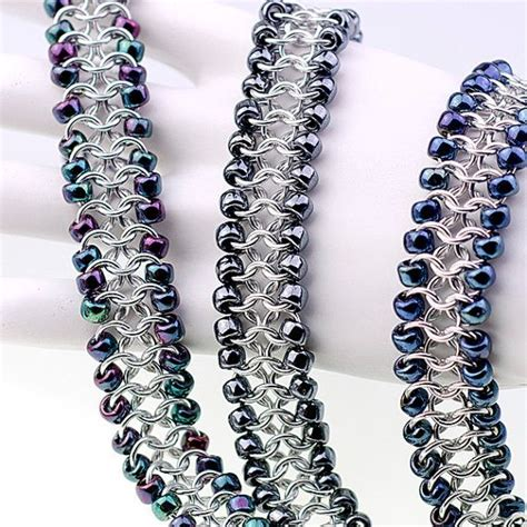 Chainmaille Tutorial Beaded European 4in1 Cuff