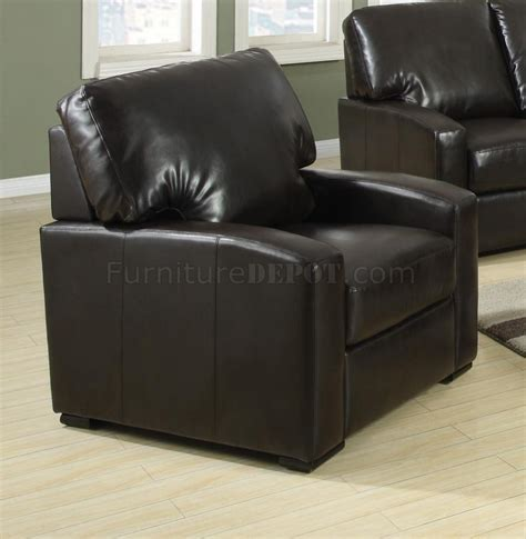 kelsey couch 504261 kelsey sofa in brown bonded leather by coaster w