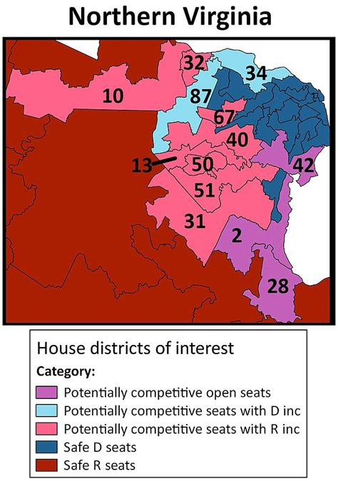 political map of virginia shifting political battlefield for virginia general assembly