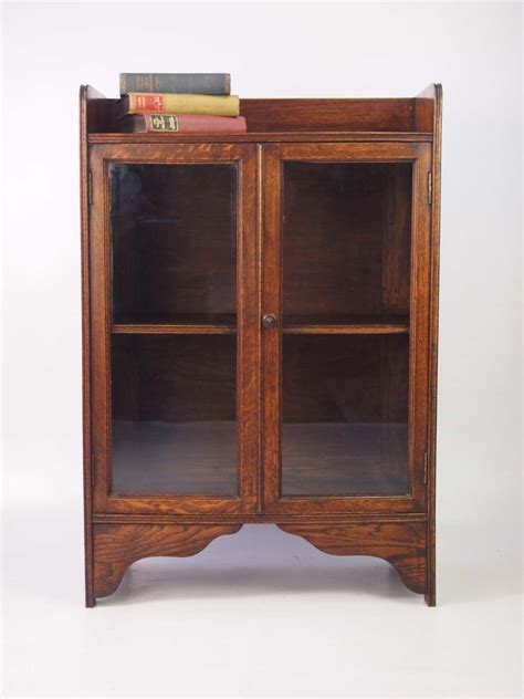 small antique edwardian oak bookcase