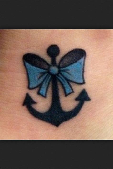 anchor with bow tattoo best 25 anchor bow tattoos ideas on bow