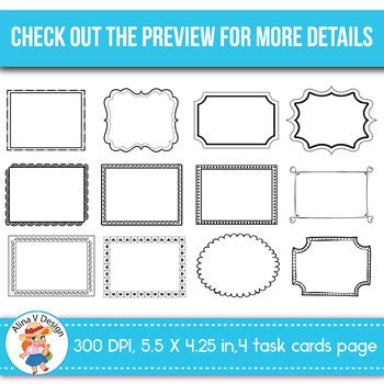 Free Sample Of 100 Task Card Templates Editable By Alina V Design And Resources Task Card Template 2