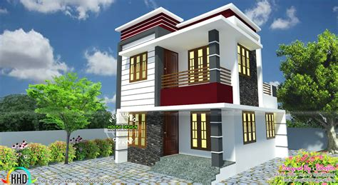 modern contemporary 1030 sqft 2 bhk small kerala home design small south facing modern home kerala home design and