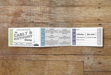 movie ticket wedding stationery vintage designs