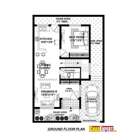map for 150 square yard small house plans modern house plan for 30 feet by 45 feet plot plot size 150