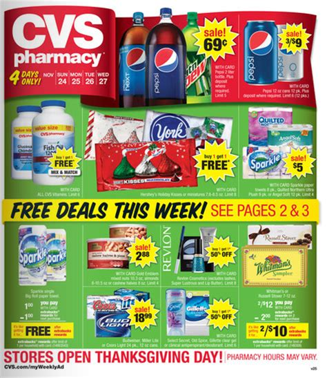 cvs weekly ad matchups 4 day sale for 11 24 thru 11 27 thrifty momma ramblings