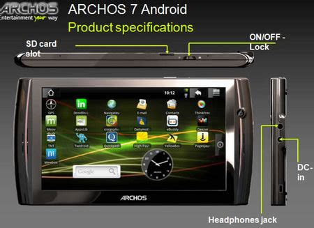 android mp4 player archos 7 specifications technology blogged