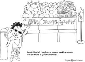 preschool coloring pages grocery store store sophie and sadie