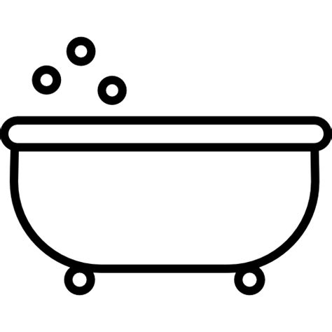 bathtub outline free tools and utensils icons