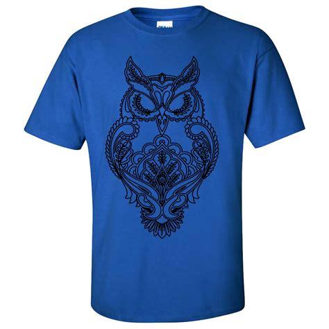 T Shirt Black Color mystical owl stencil black asst colors t shirt ebay