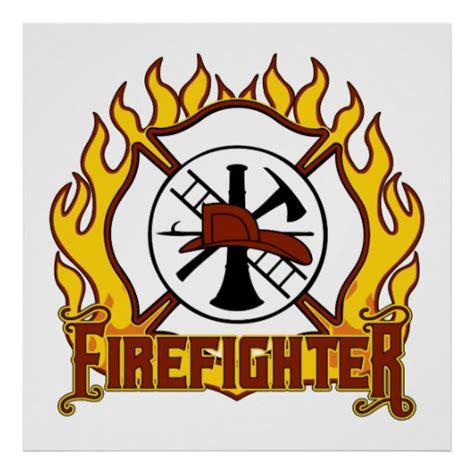 firefighter badge  fire print zazzle