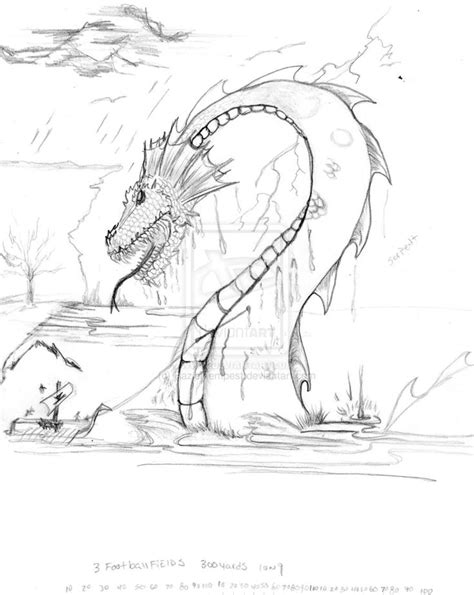 sea dragons coloring pages sea serpent drawing google search loch ness monster