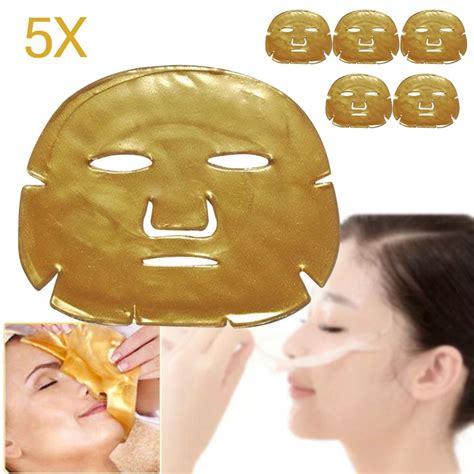 Masker Gold Collagen 5pcs lot skin care mask gold collagen gold collagen powder mask for