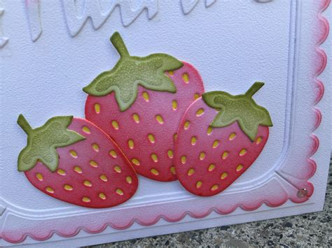 Strawberry Card Gold strawberry thank you card