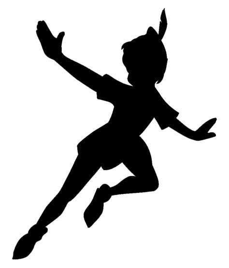 The Gallery For Gt Flying Tinkerbell Stencil Pan Silhouette Template