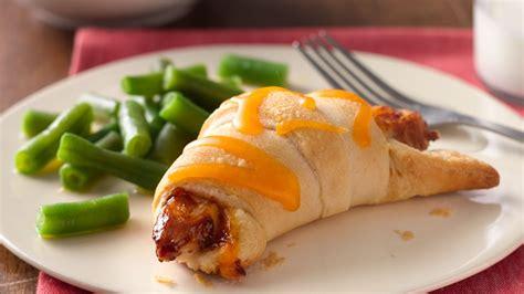 easy bbq chicken crescents recipe pillsbury com