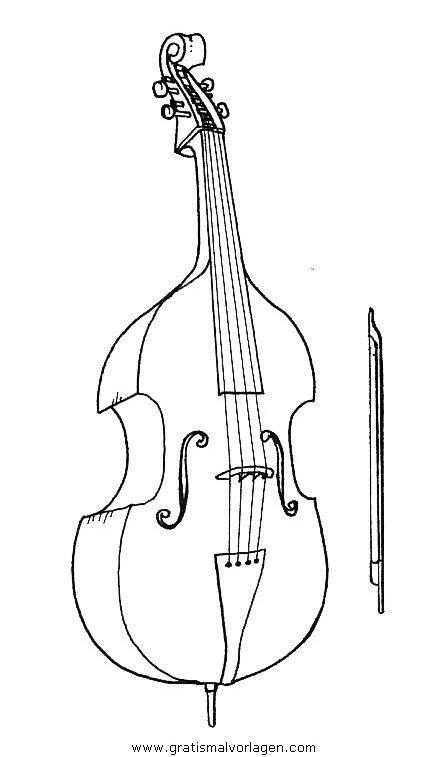 violoncello4 gratis Malvorlage in Diverse Malvorlagen