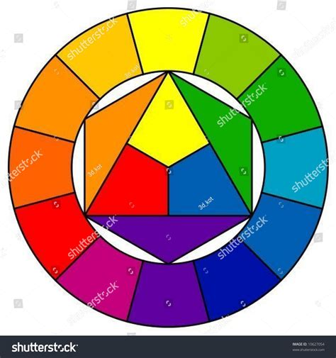 pattern of color wheel color wheel with 12 patterns vector 10627054