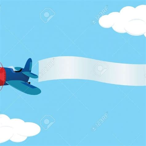 Plain Voal airplane with banner png www pixshark