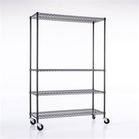 adjustable wire shelving 4 tier commercial 46 x82 x18 wire shelving rack adjustable steel shelf ebay