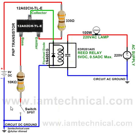 pnp transistor led switch pnp transistor 12a02ch tl e switching reed relay edr201a05 iamtechnical