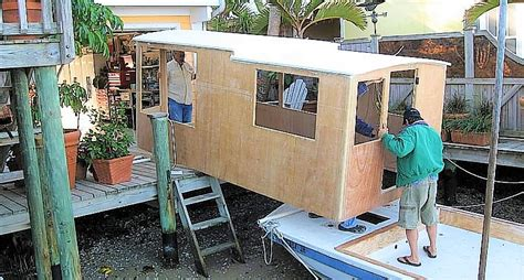 Interior Of Shipping Container Homes Home Made Diy Houseboat 2