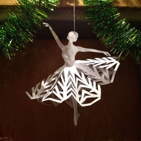 Paper Ballerina Template paper ballerina snowflakes tutorial template and
